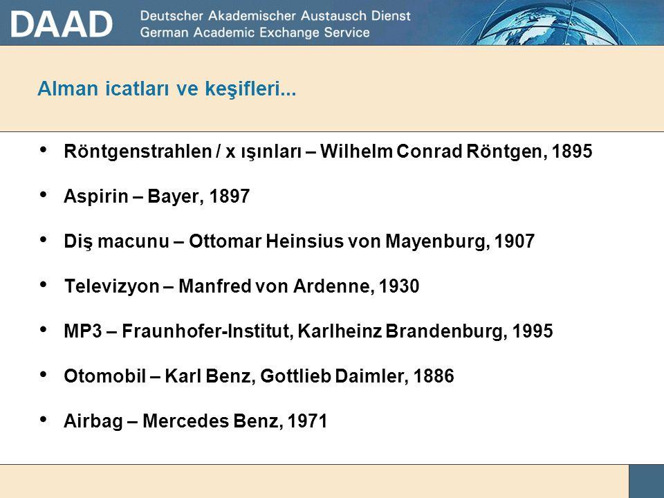 Alman icatları ve keşifleri...