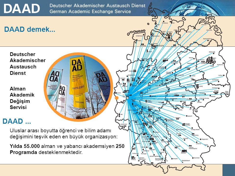 DAAD demek... DAAD ... Deutscher Akademischer Austausch Dienst Alman