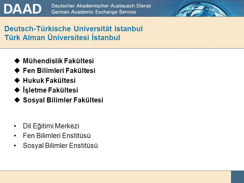 Deutsch-Türkische Universität Istanbul Türk Alman Üniversitesi İstanbul