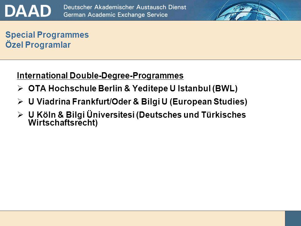 Special Programmes Özel Programlar