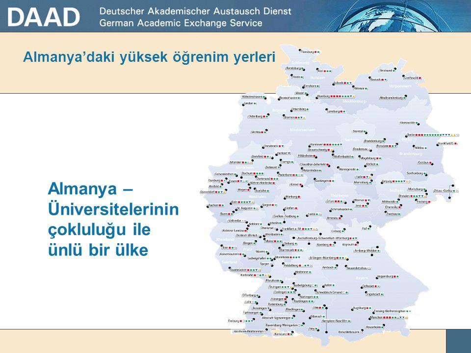 Almanya'daki yüksek öğrenim yerleri