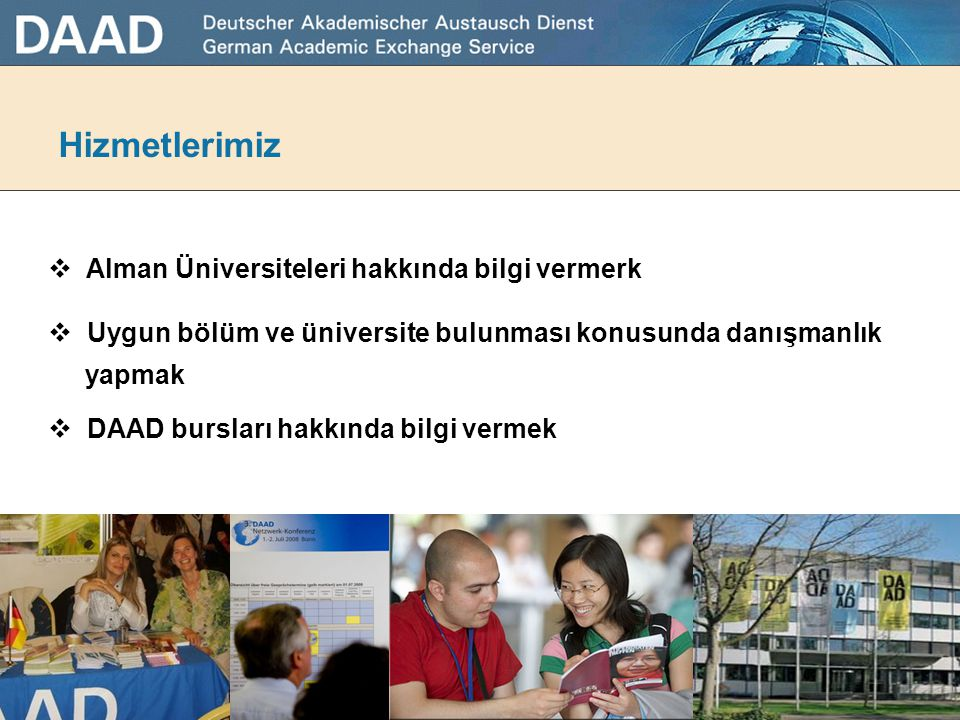 Hizmetlerimiz Alman Üniversiteleri hakkında bilgi vermerk
