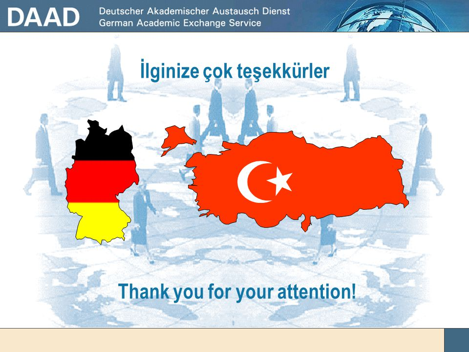 İlginize çok teşekkürler Thank you for your attention!