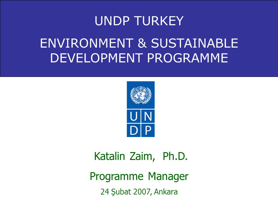 ENVIRONMENT & SUSTAINABLE DEVELOPMENT PROGRAMME