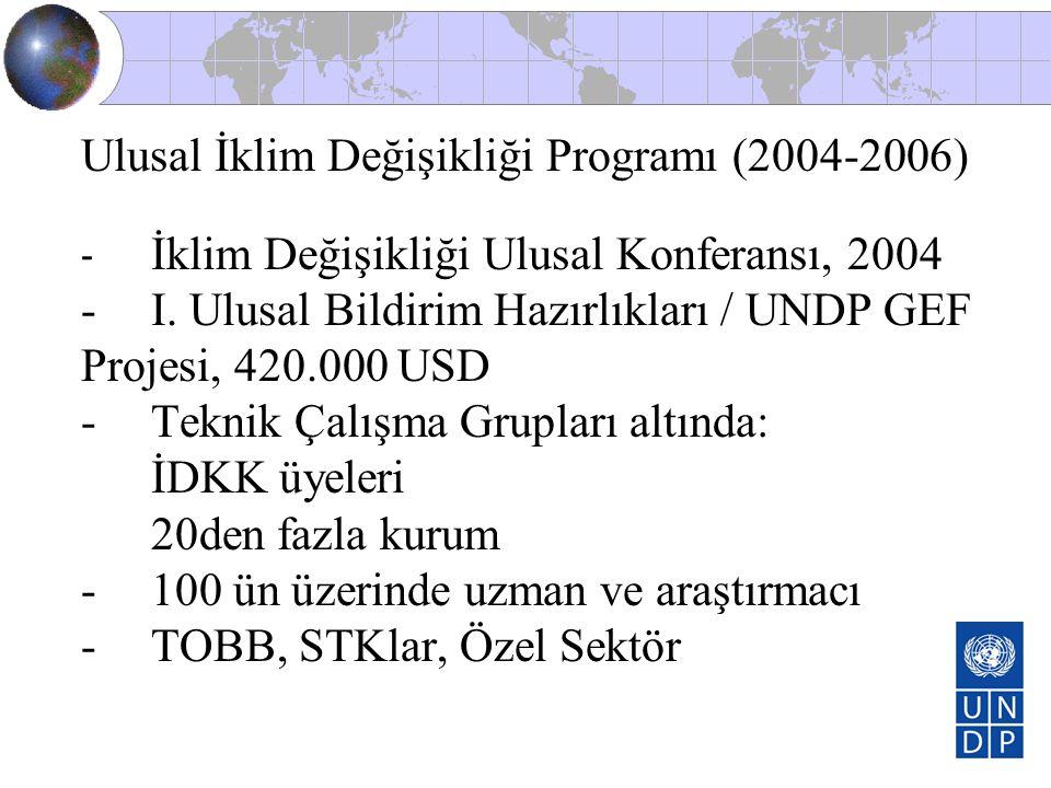 Ulusal İklim Değişikliği Programı (2004-2006)