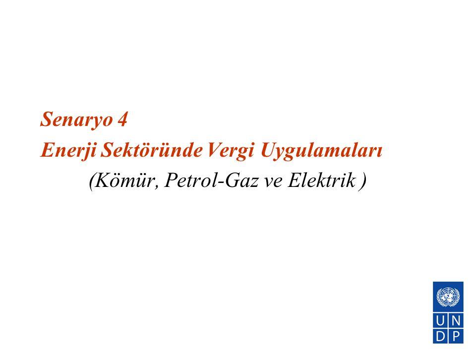 Senaryo 4 Enerji Sektöründe Vergi Uygulamaları (Kömür, Petrol-Gaz ve Elektrik )
