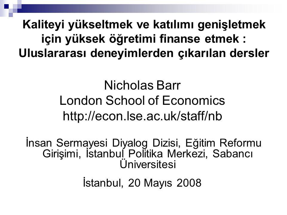 Nicholas Barr, İstanbul, Mayıs 2008