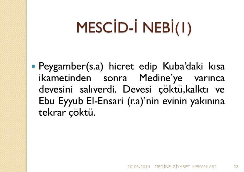 MESCİD-İ NEBİ(1)
