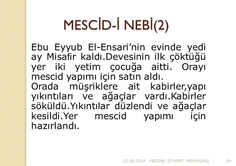 MESCİD-İ NEBİ(2)