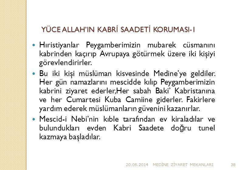 YÜCE ALLAH'IN KABRİ SAADETİ KORUMASI-1
