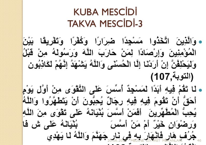 KUBA MESCİDİ TAKVA MESCİDİ-3