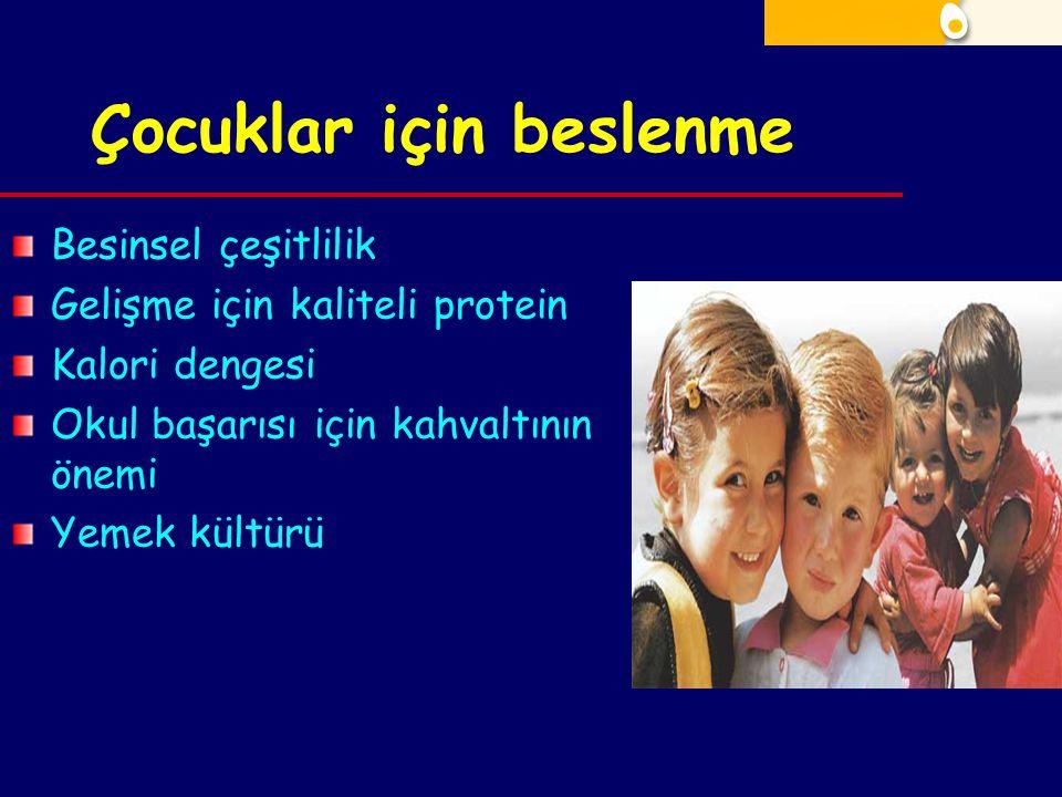 Çocuklar için beslenme