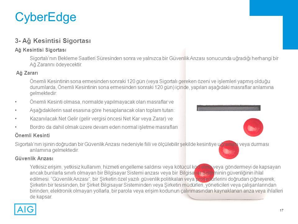 CyberEdge 3- Ağ Kesintisi Sigortası Ağ Kesintisi Sigortası