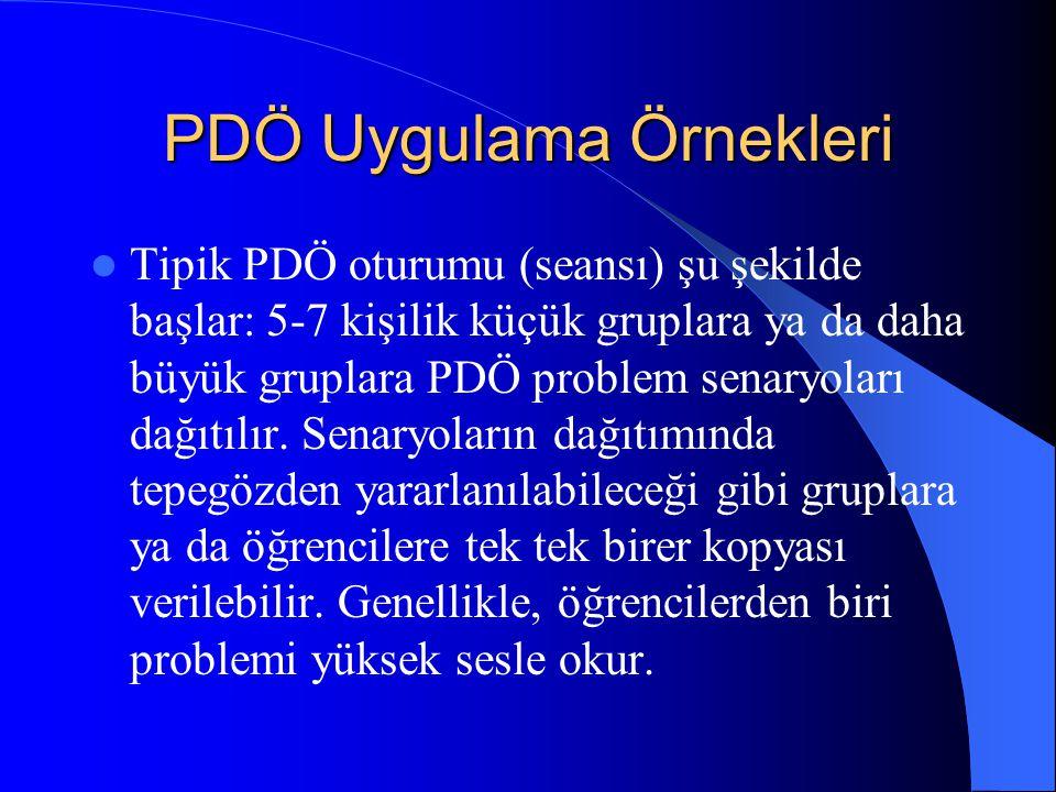 PDÖ Uygulama Örnekleri
