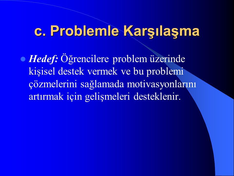 c. Problemle Karşılaşma