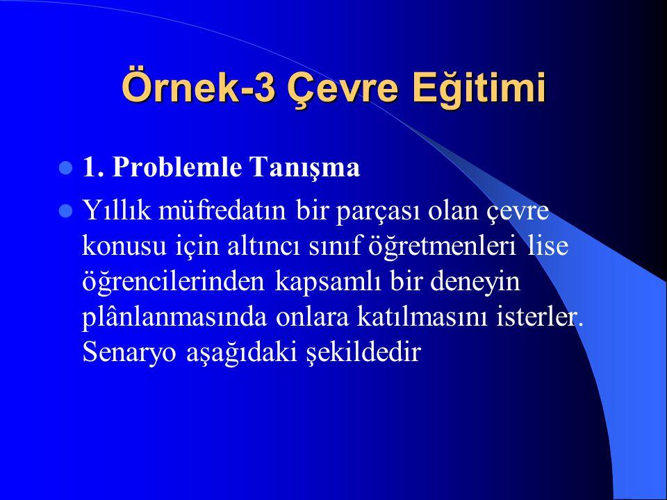 Örnek-3 Çevre Eğitimi 1. Problemle Tanışma