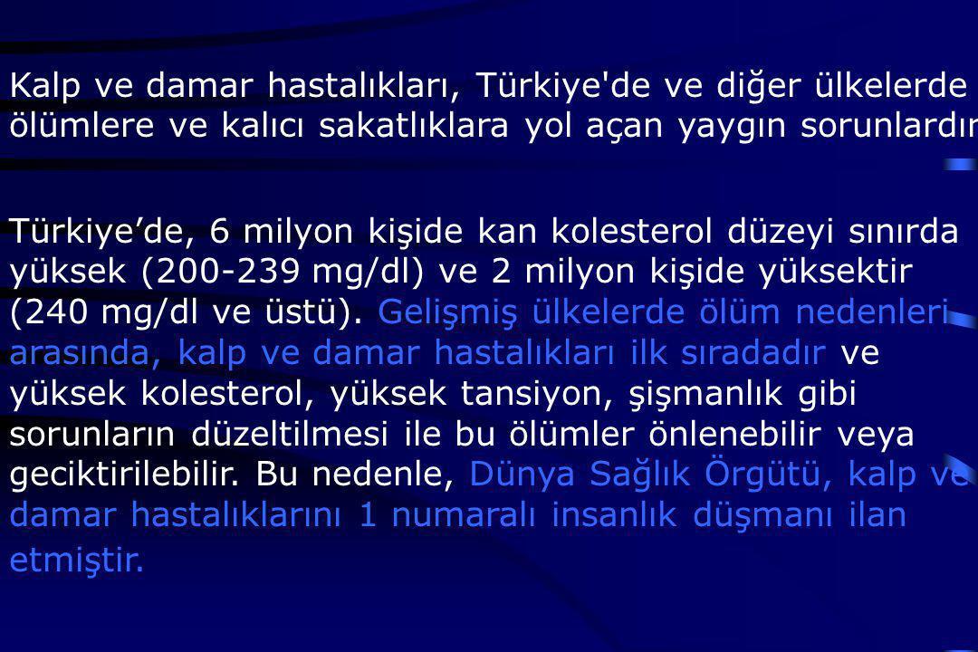 Kalp ve damar hastalıkları, Türkiye de ve diğer ülkelerde ölümlere ve kalıcı sakatlıklara yol açan yaygın sorunlardır.