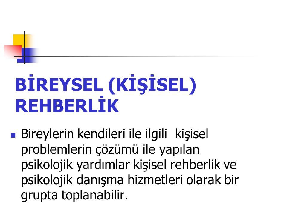 BİREYSEL (KİŞİSEL) REHBERLİK