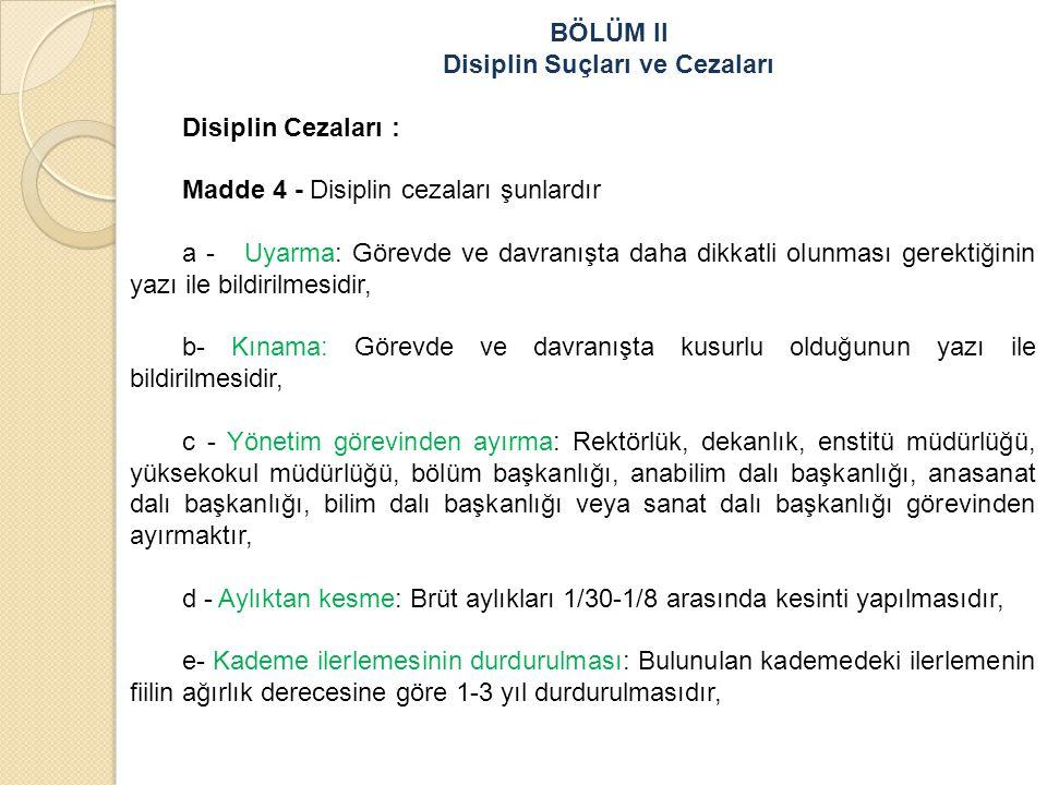 Disiplin Suçları ve Cezaları