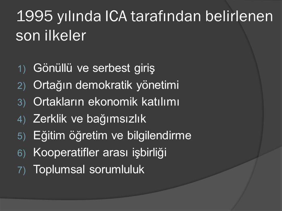 1995 yılında ICA tarafından belirlenen son ilkeler