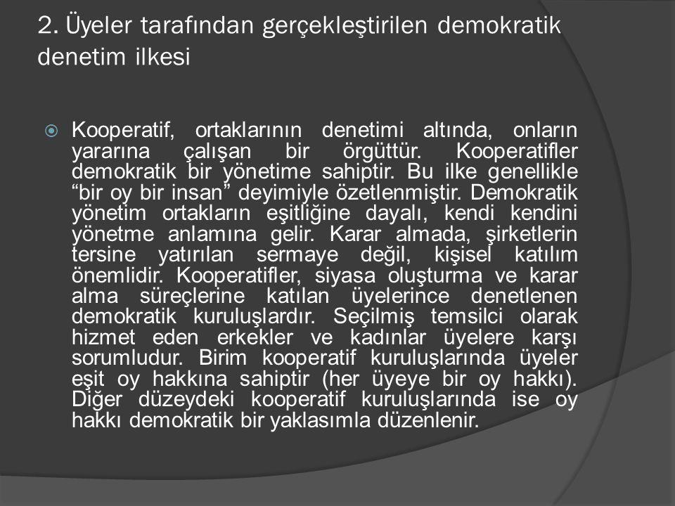 2. Üyeler tarafından gerçekleştirilen demokratik denetim ilkesi