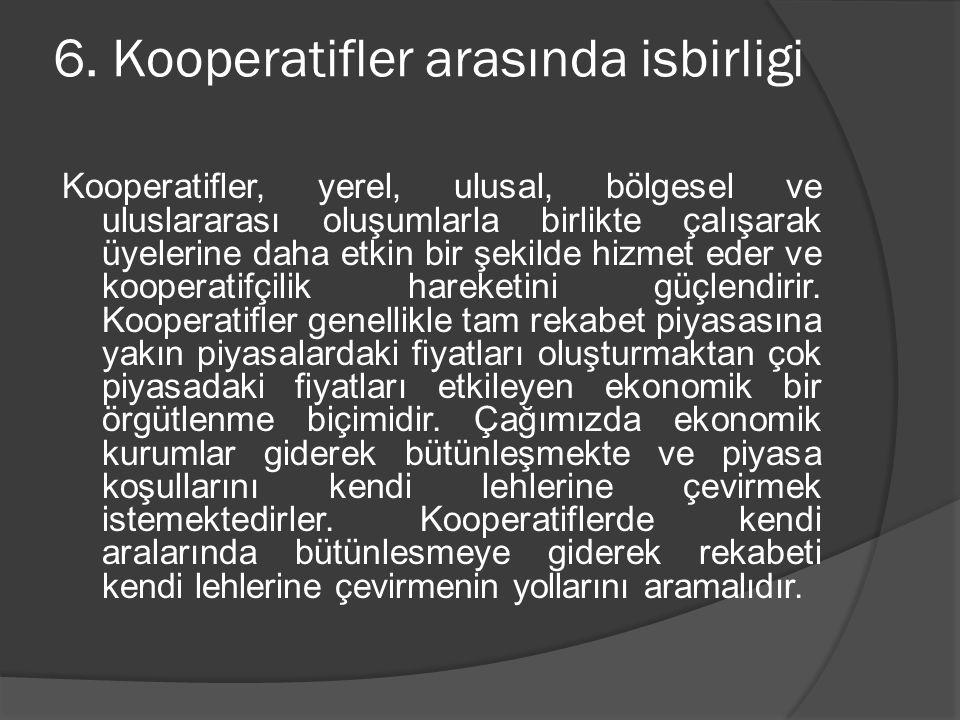 6. Kooperatifler arasında isbirligi