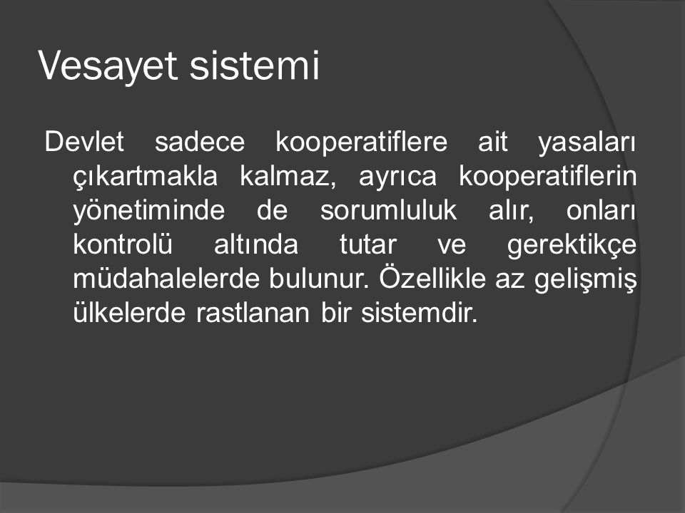 Vesayet sistemi