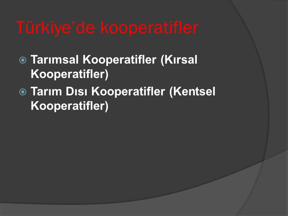 Türkiye'de kooperatifler