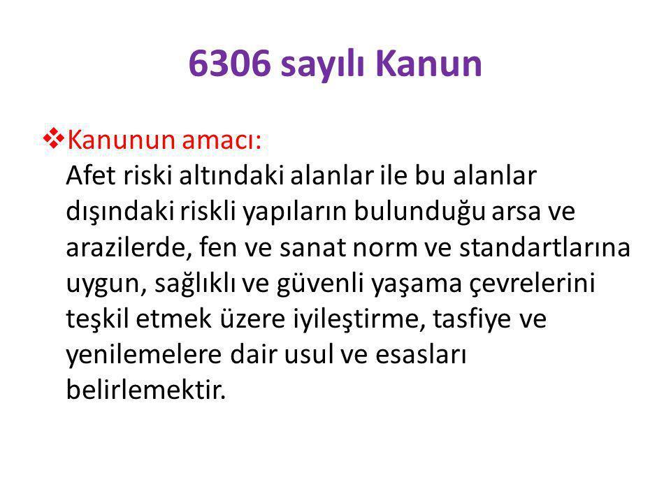 6306 sayılı Kanun