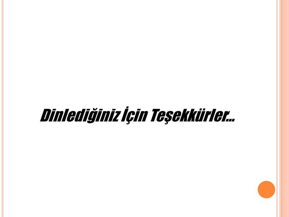 Dinlediğiniz İçin Teşekkürler…