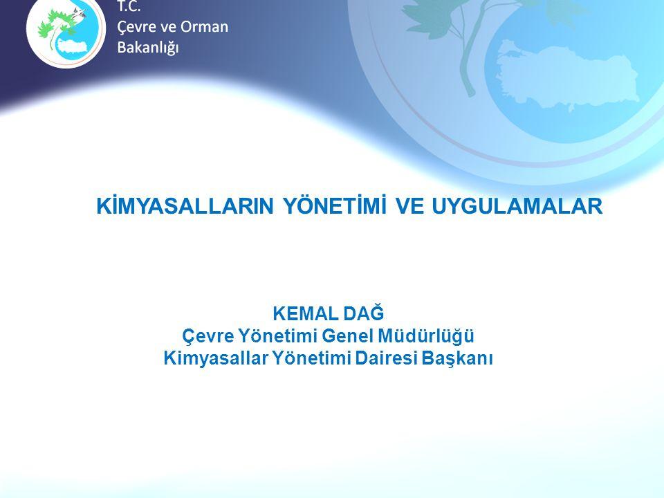 Çevre Yönetimi Genel Müdürlüğü Kimyasallar Yönetimi Dairesi Başkanı