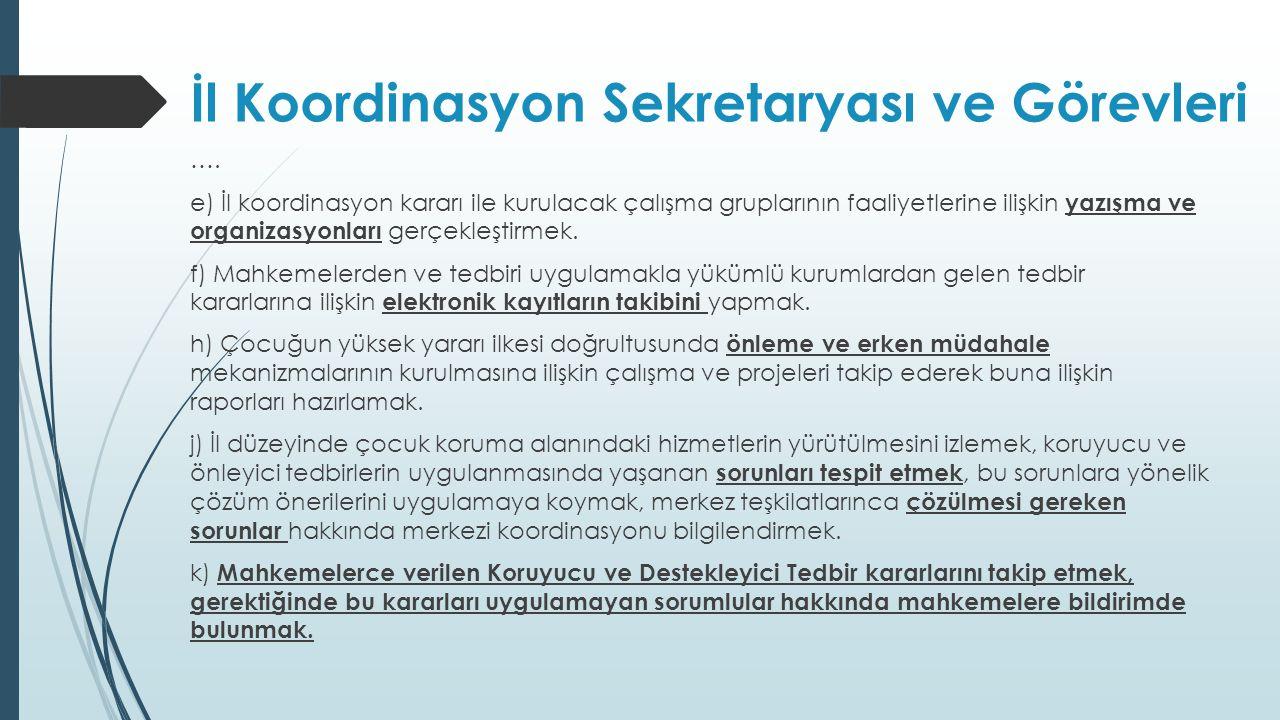 İl Koordinasyon Sekretaryası ve Görevleri
