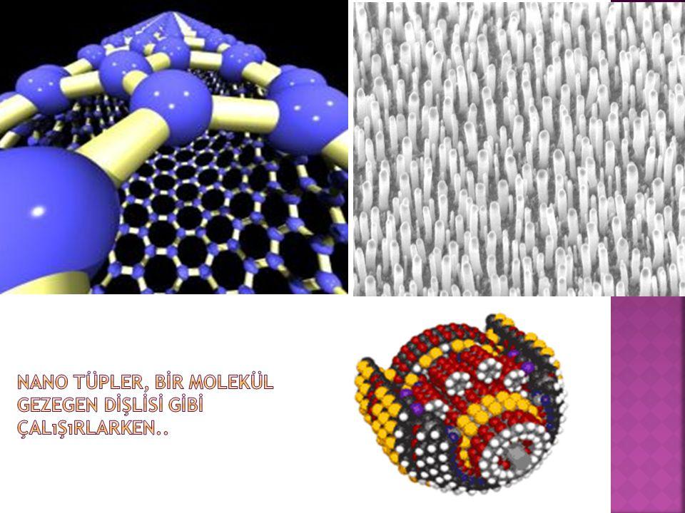 Nano tüpler, bİr molekül gezegen dİşlİsİ gİbİ çalışırlarken..