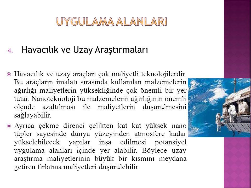 UYGULAMA ALANLARI Havacılık ve Uzay Araştırmaları