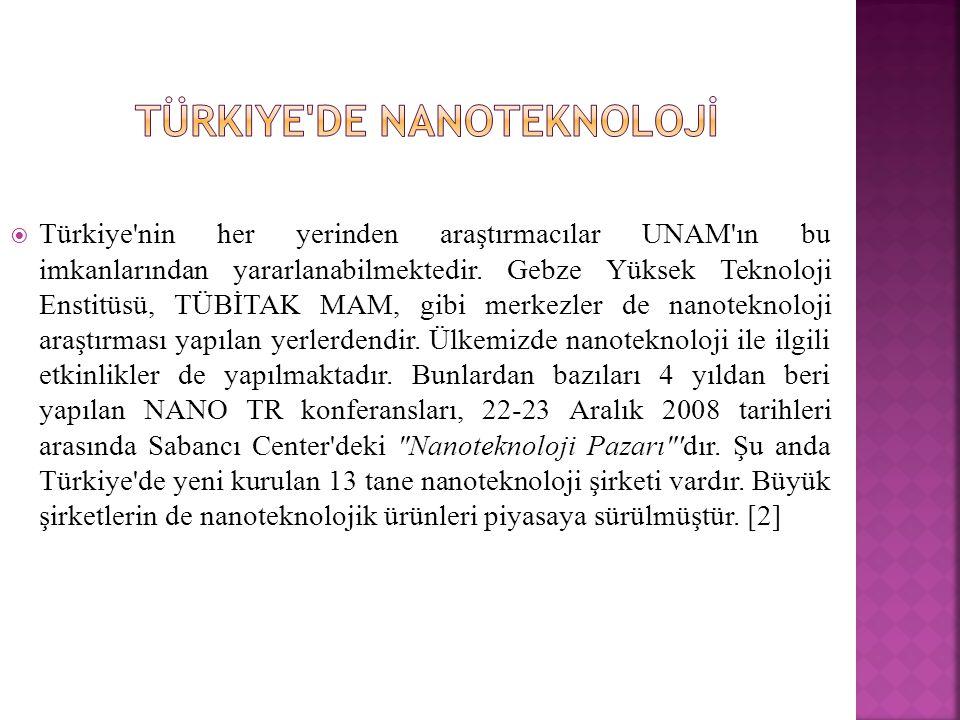 Türkiye de Nanoteknolojİ