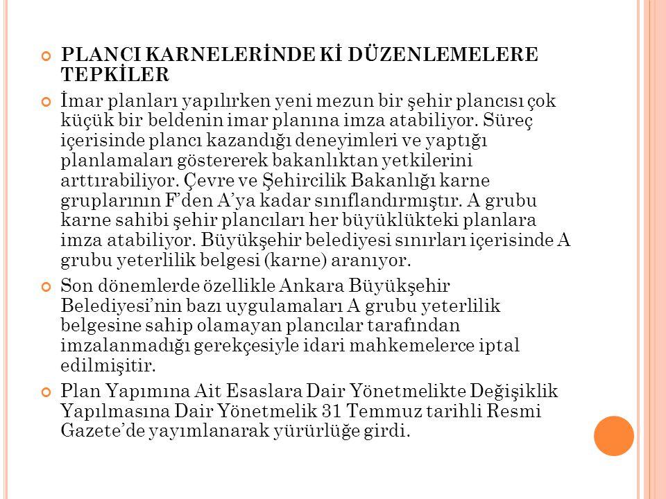 PLANCI KARNELERİNDE Kİ DÜZENLEMELERE TEPKİLER