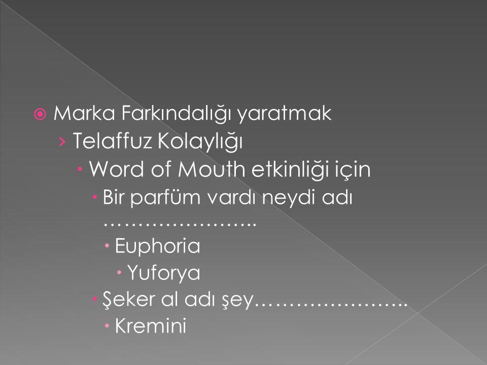 Word of Mouth etkinliği için