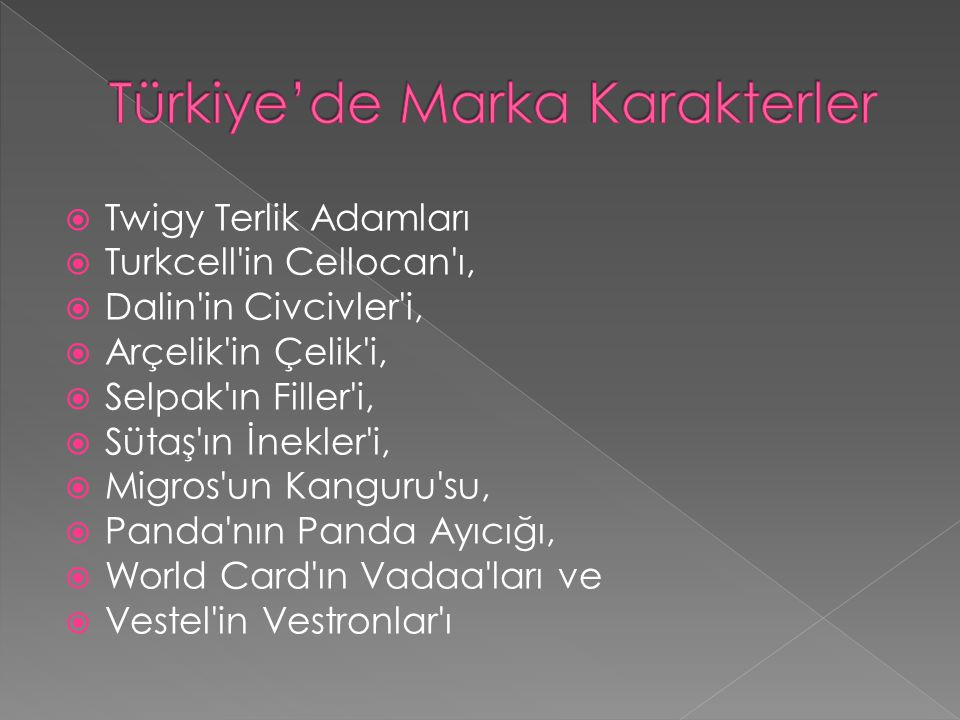 Türkiye'de Marka Karakterler