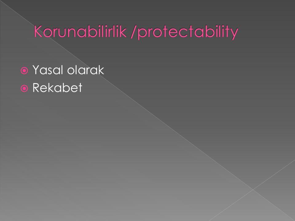 Korunabilirlik /protectability