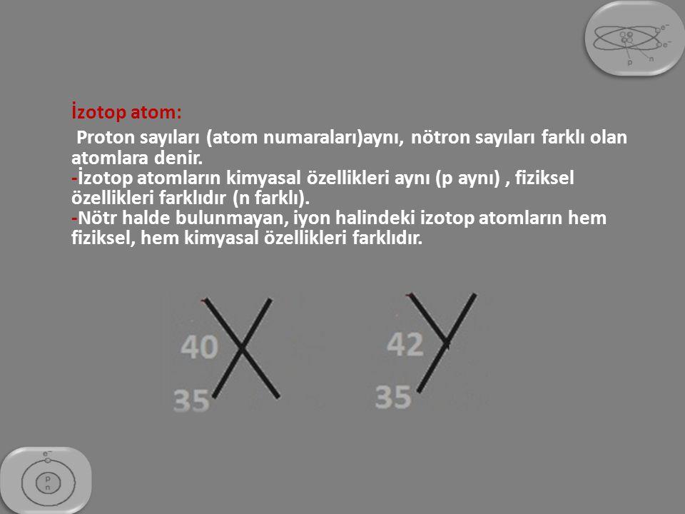 İzotop atom: