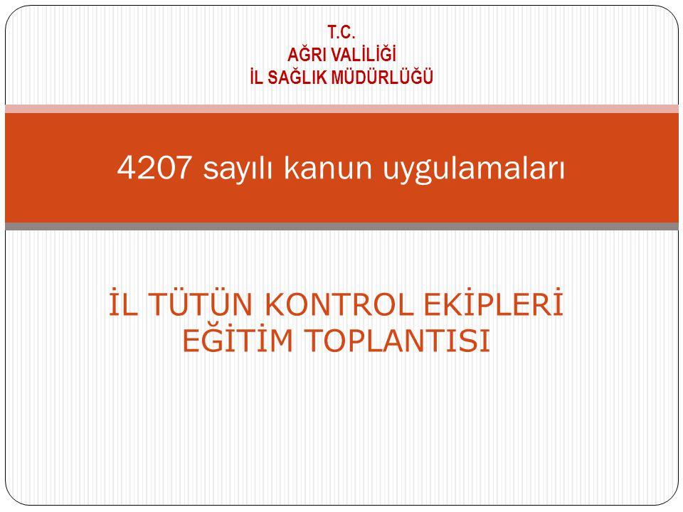 4207 sayılı kanun uygulamaları