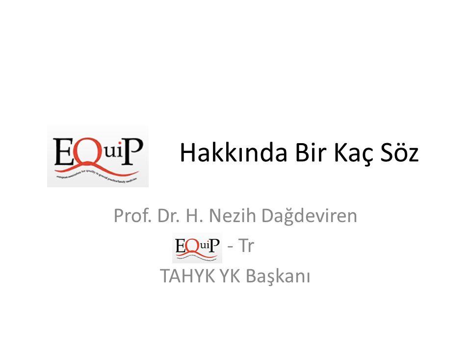 Prof. Dr. H. Nezih Dağdeviren - Tr TAHYK YK Başkanı