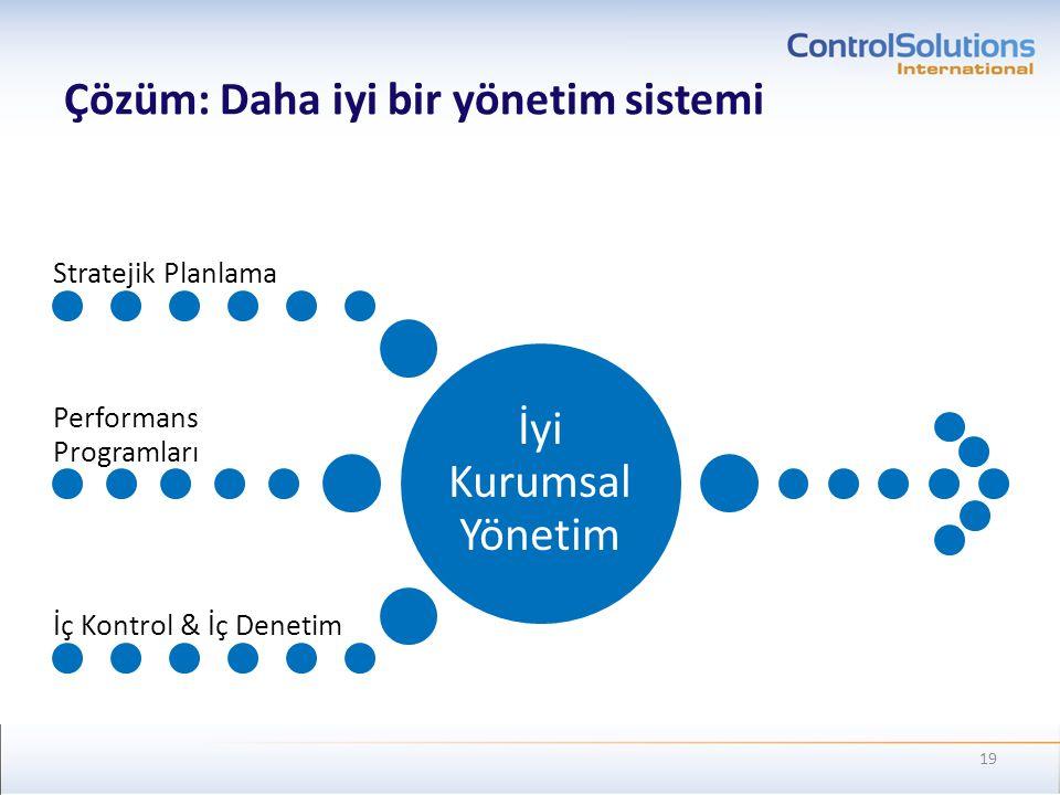 Çözüm: Daha iyi bir yönetim sistemi