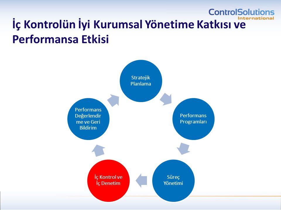 İç Kontrolün İyi Kurumsal Yönetime Katkısı ve Performansa Etkisi