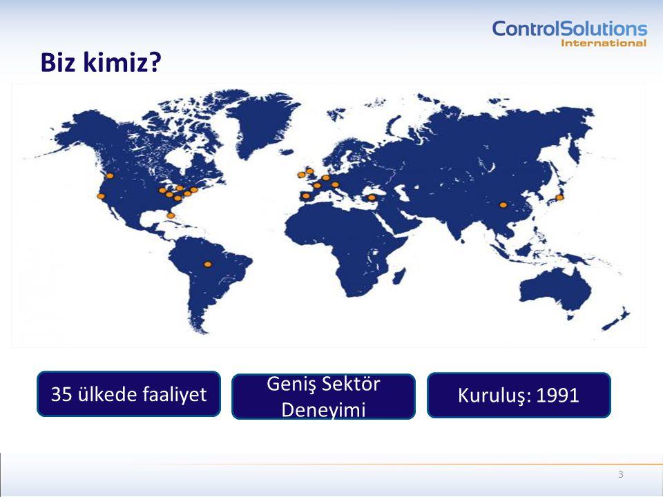 Biz kimiz 35 ülkede faaliyet Geniş Sektör Deneyimi Kuruluş: 1991