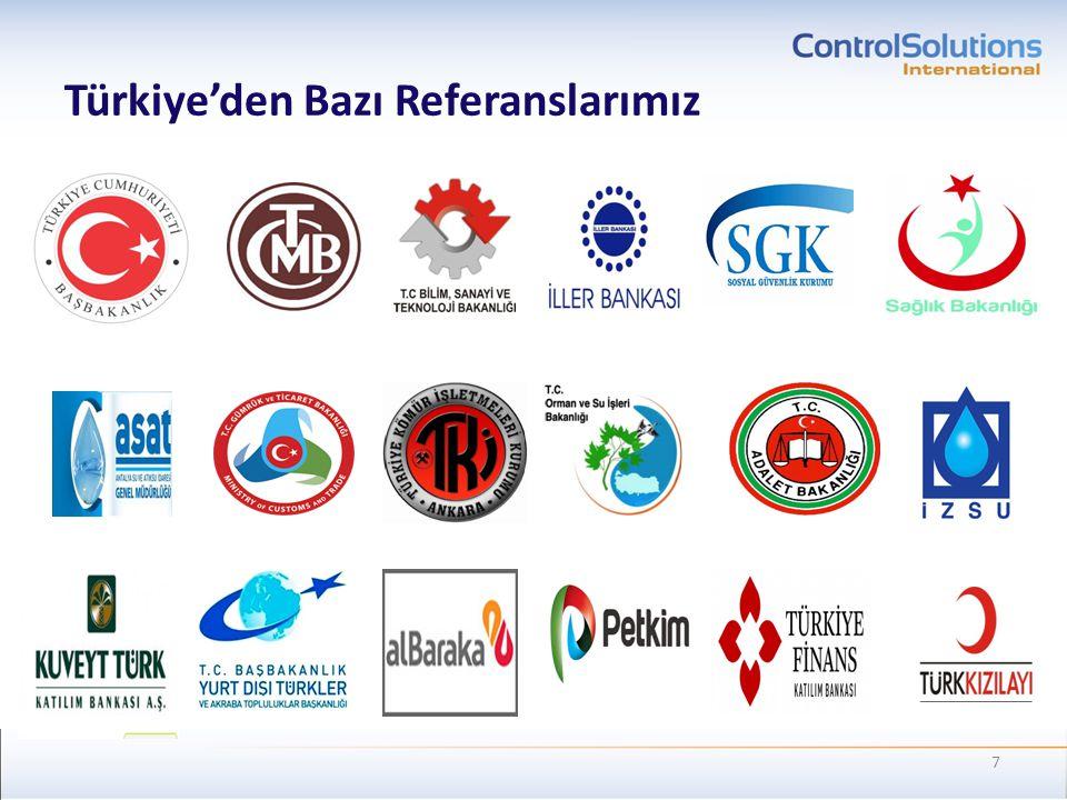 Türkiye'den Bazı Referanslarımız