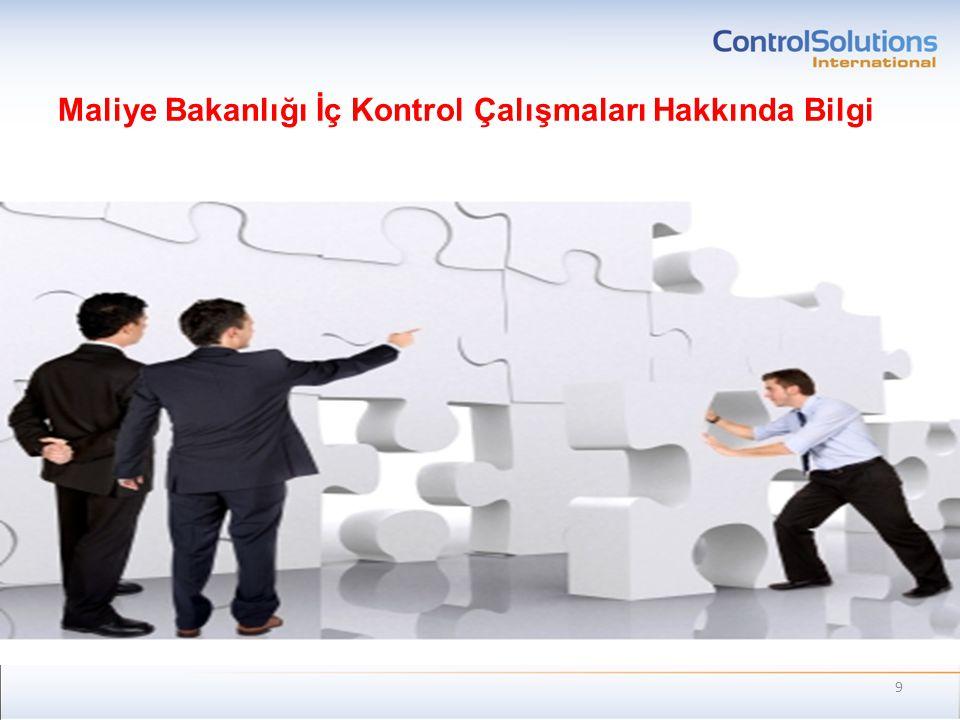 Maliye Bakanlığı İç Kontrol Çalışmaları Hakkında Bilgi