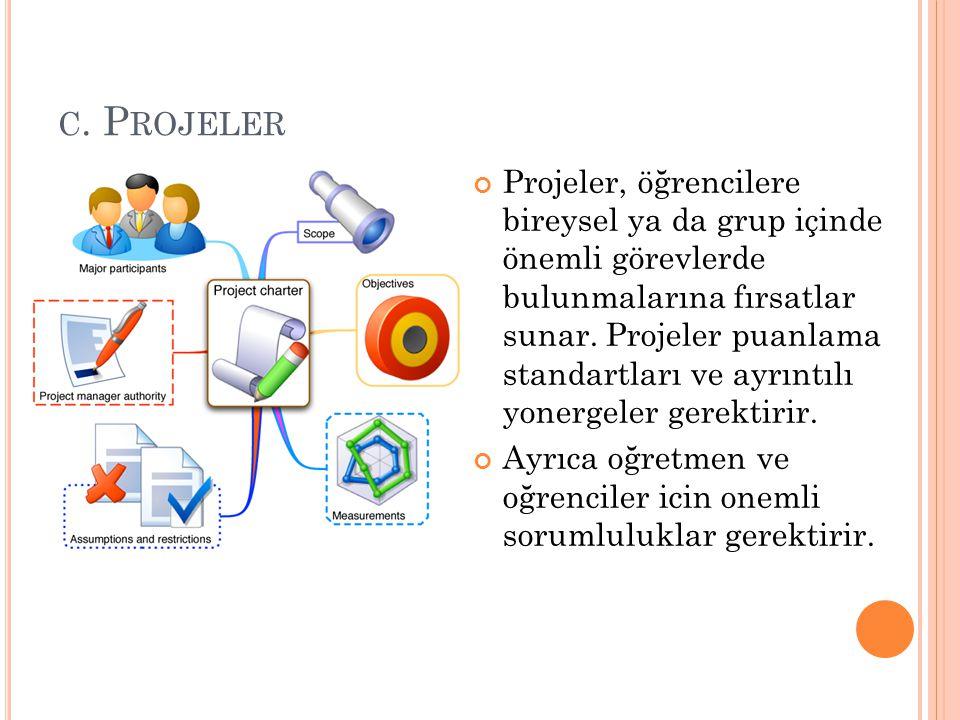 c. Projeler