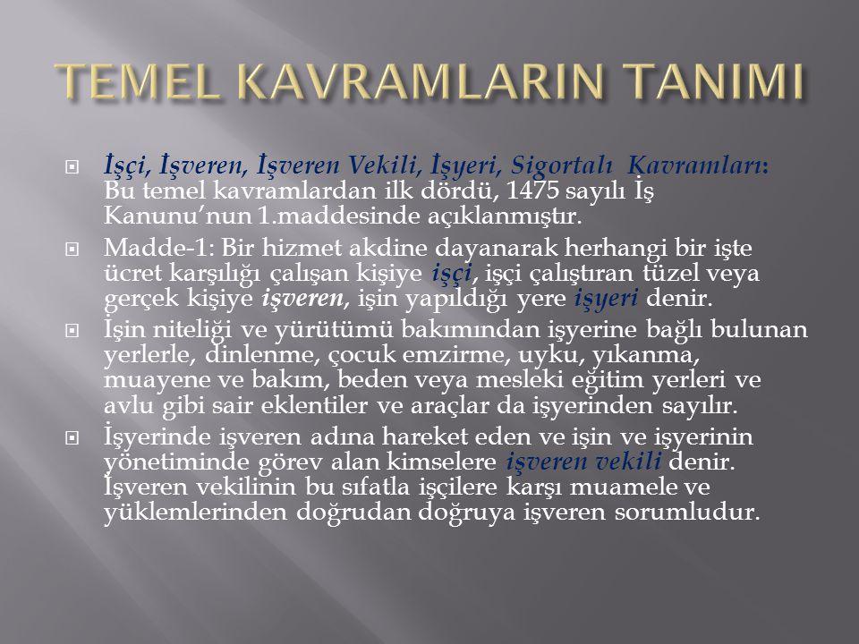 TEMEL KAVRAMLARIN TANIMI