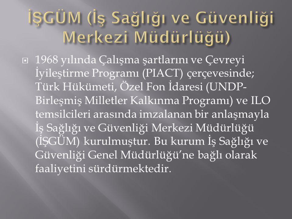 İŞGÜM (İş Sağlığı ve Güvenliği Merkezi Müdürlüğü)